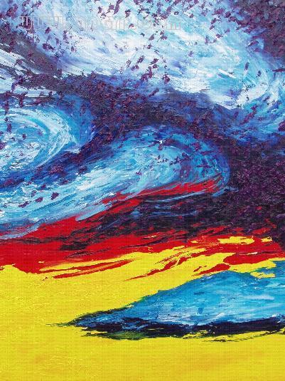 吴江风景抽象画图片